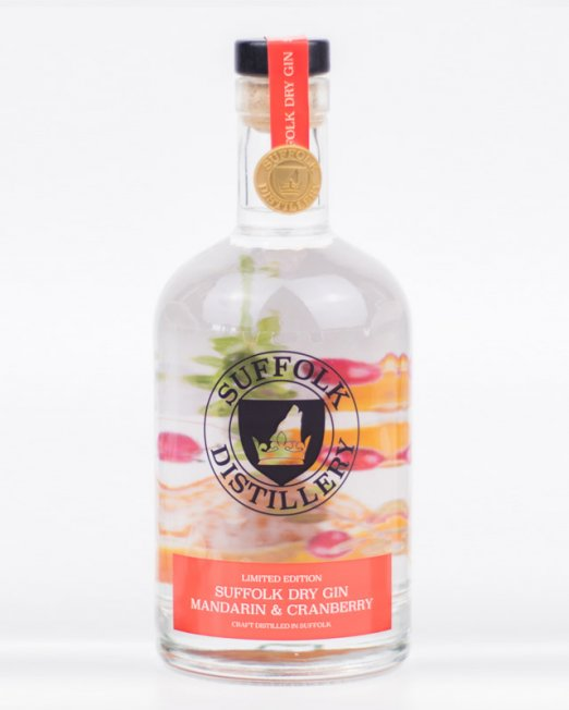 Limited Edition Mandarin and Cranberry Gin - Suffolk Distillery