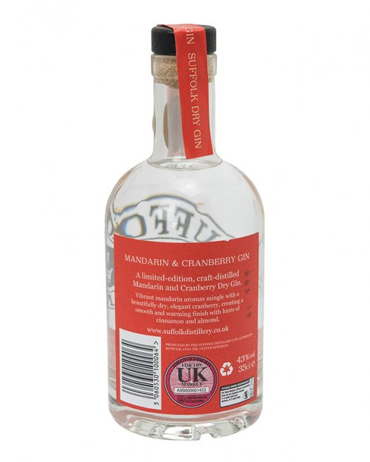 Limited Edition Mandarin and Cranberry Suffolk Dry Gin