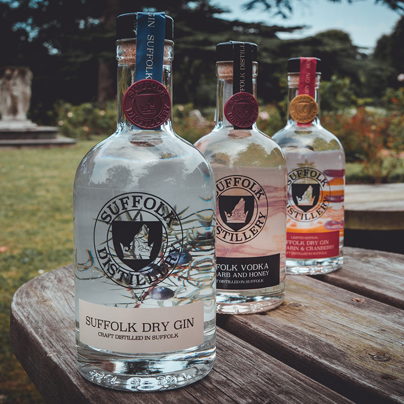 Suffolk Distillery Gin and Vodka